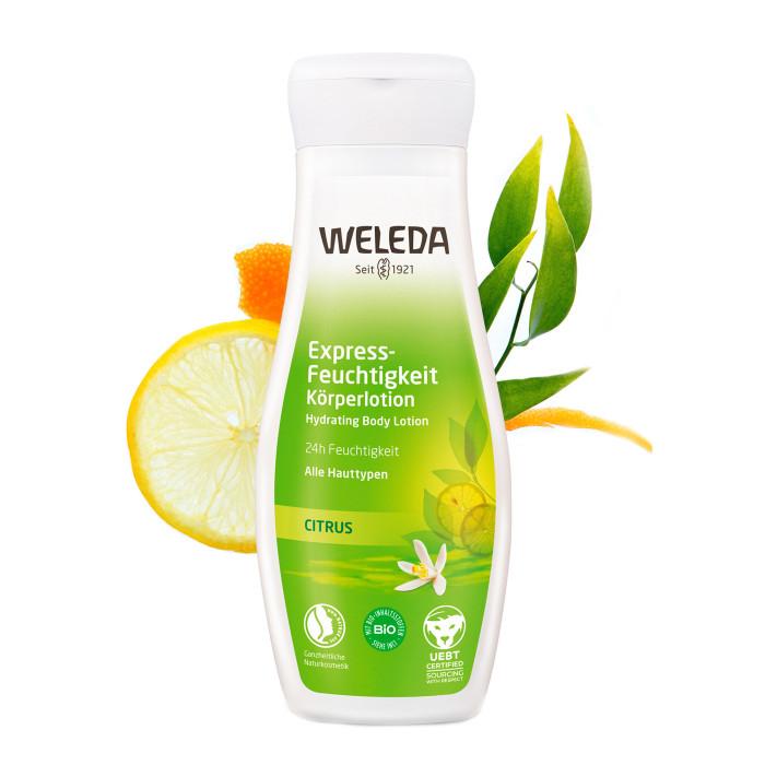 Косметика для мамы Weleda Цитрусовое освежающее молочко для тела 200 мл масло weleda цитрусовое освежающее масло для тела weleda