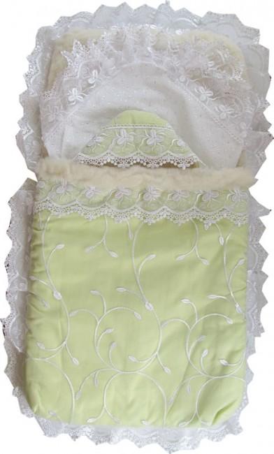 Купить Папитто Комплект на выписку сатин мех с органзой в интернет магазине. Цены, фото, описания, характеристики, отзывы, обзоры