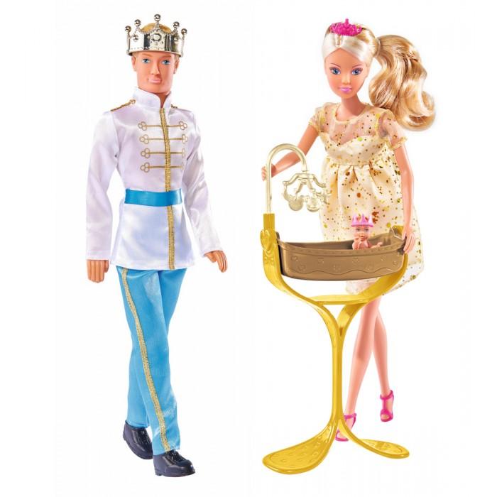 Картинка для Игровые наборы Simba Куклы Штеффи Кевин Еви Тимми набор Королевская семья