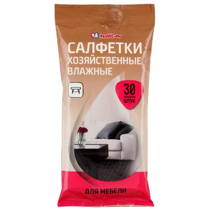Бытовая химия Максан Влажные хозяйственные салфетки для мебели 30 шт.