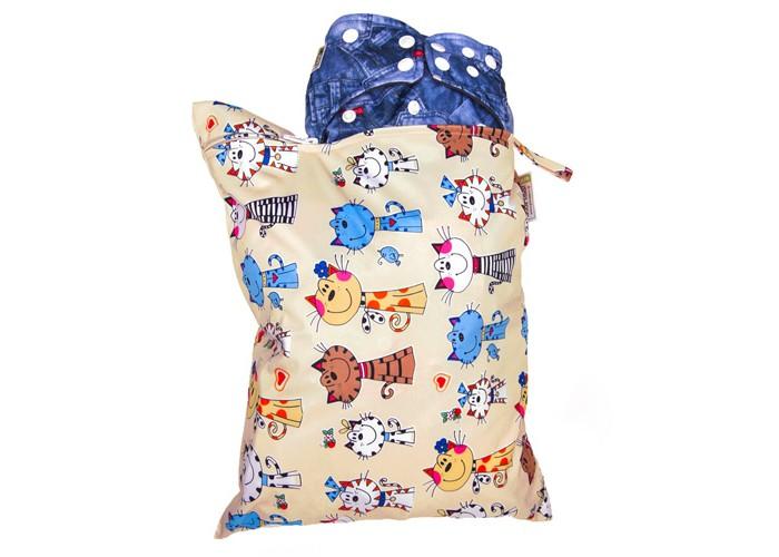 GlorYes Непромокаемая сумка Коты на бежевом