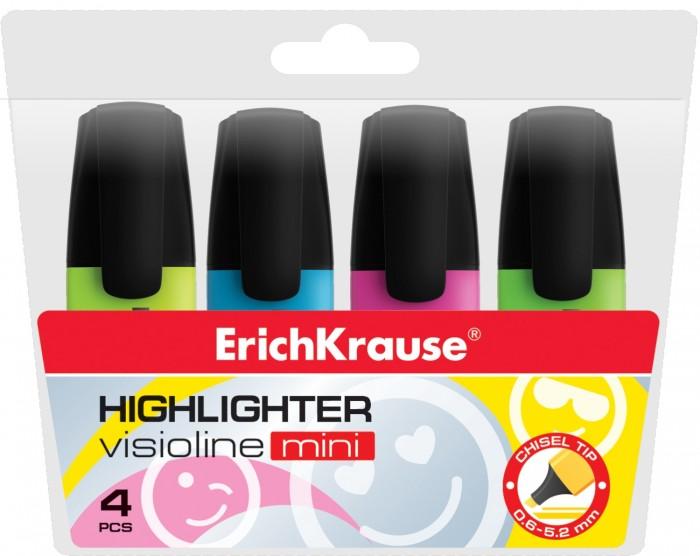 цена на Канцелярия Erich Krause Текстмаркер Visioline Mini 4 цвета
