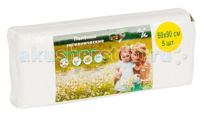 Одноразовые пеленки MiniMax Пелёнки детские 60x90 см 5 шт. абсорбент впитывающий воду москва