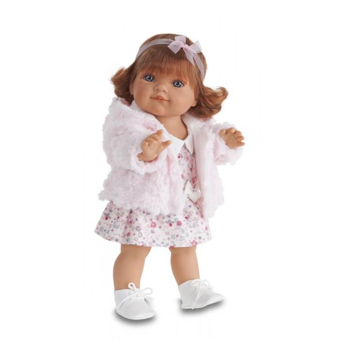 Munecas Antonio Juan  Кукла Клаудия 38 смКукла Клаудия 38 смКукла-младенец Клаудия выглядит совсем как ребенок. Куклы одеты в чудесные наряды, созданные испанским дизайнером.   Личико сделано с детальными прорисовками. Глазки обрамлены пушистыми ресничками, не закрываются.   Образы малышей Мунекас разработаны известными европейскими дизайнерами. Они натуралистичны, анатомически точны, с подвижными ручками и ножками, копируют настоящих младенцев.  Полностью изготовлены из высококачественного винила.   Кукла упакована в красивую подарочную коробку.  Куклы Antonio Juan Munecas существуют уже более 40 лет и пользуется заслуженной популярностью в Европе. Куклы производятся исключительно в Испании, из высококачественных материалов, безвредных для ребенка. Образы кукол разрабатываются ведущими Европейскими дизайнерами, они высокохудожественны, натуралистичны (девочки/мальчики), одеты в красивую современную одежду, сшитую из натуральных тканей. Упакованы в стильные фирменные коробки.  В наш век технического прогресса классические куклы Антонио Хуан, с милыми добрыми детскими чертами не перестают пользоваться популярностью, а способность разговаривать, смеяться и плакать делает их вполне современными и интересными даже для самых «продвинутых» деток.<br>