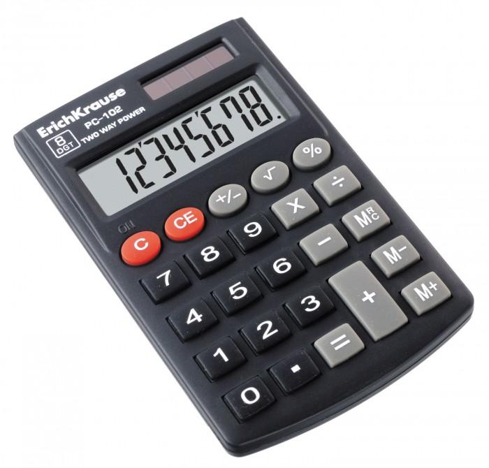 Купить Erich Krause Калькулятор карманный 8-разрядов PC-102 в интернет магазине. Цены, фото, описания, характеристики, отзывы, обзоры