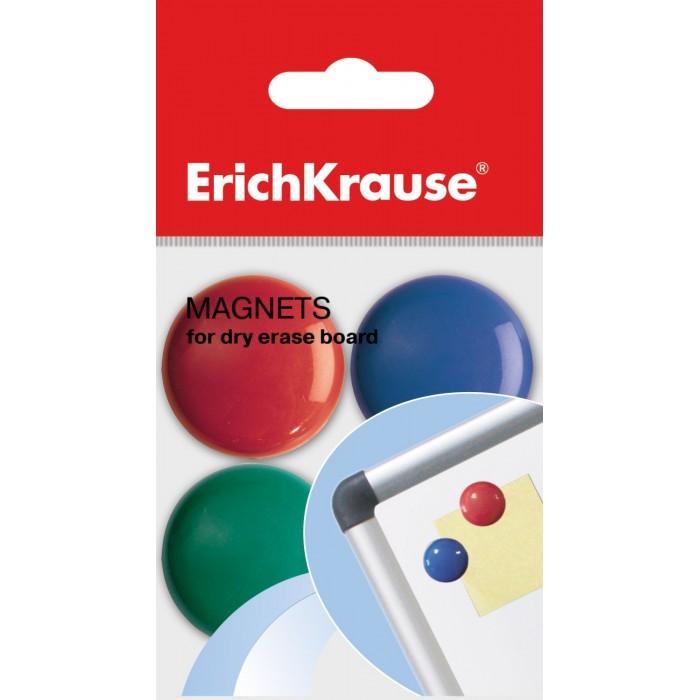 Канцелярия Erich Krause Магнит 3 см 8 шт. канцелярия berlingo магнит для досок 2 см 6 шт