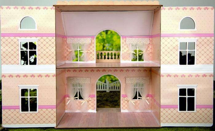 Кукольные домики и мебель ЯиГрушка Набор обоев ламината для дома с черепичной крышей Чайная роза