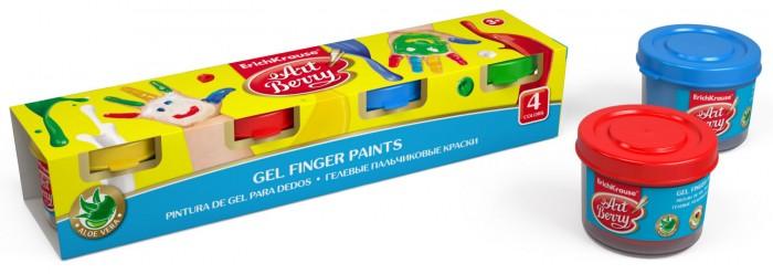 цена на Краски ArtBerry Гелевые пальчиковые краски с Алоэ Вера 4 цвета по 35 мл