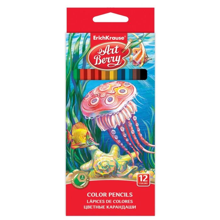 Карандаши, восковые мелки, пастель ArtBerry Цветные карандаши шестигранные 12 цветов карандаши цветные baramba шестигранные 24 цветов