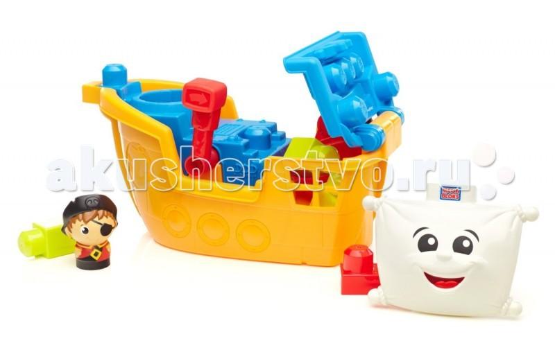 Конструктор Mega Bloks Пиратский корабль 80451Пиратский корабль 80451Конструктор Mega Bloks Пиратский корабль 80451 - специально для юного пирата компания Mega Bloks приготовила потрясающую игру, позволяющую почувствовать себя настоящим покорителем морей и океанов! Это самый настоящий пиратский корабль по имени Пат.   На корабле вы найдете и его капитана Block Buddy, смелого и отчаянного моряка. Если вы разместите пирата на смотровой площадке, а затем потянете за рычаг, пират поднимется вверх и сможет увидеть землю.   Трюм корабля можно открыть, чтобы положить в него сокровища, найденные пиратом.   Количество деталей: 11  Вы можете совмещать этот конструктор с другими наборами из серии Mega Bloks Маленькие строители.<br>
