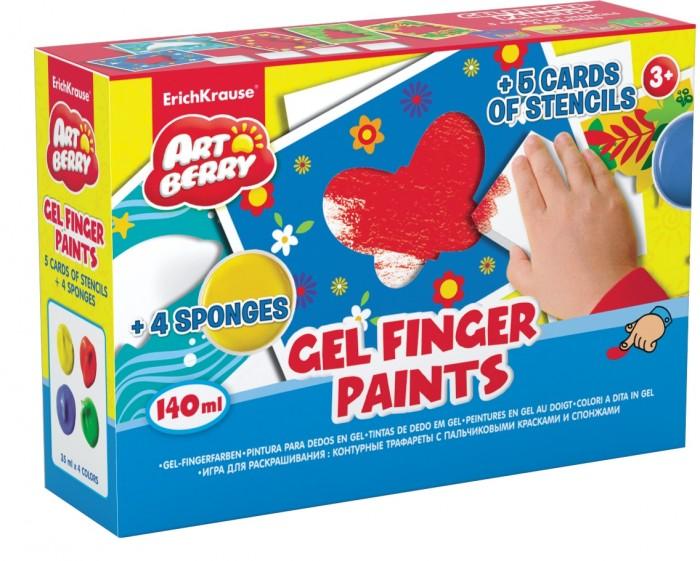 Краски ArtBerry Пальчиковые краски 4 баночки по 35 г erich krause набор для творчества artberry пальчиковые краски 4 банки