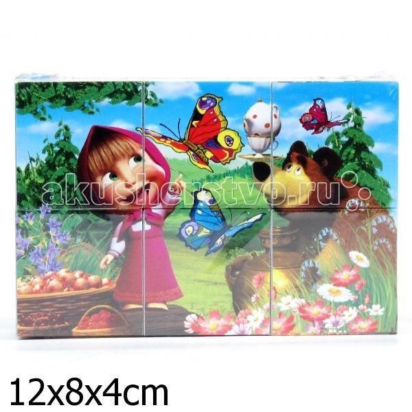 Развивающие игрушки Играем вместе Кубики Маша и Медведь 6 шт. маша и медведь колпак машины сказки 6 шт