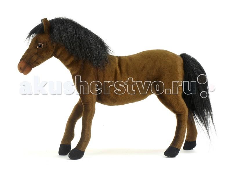 Мягкая игрушка Hansa Лошадка гнедая 37 см