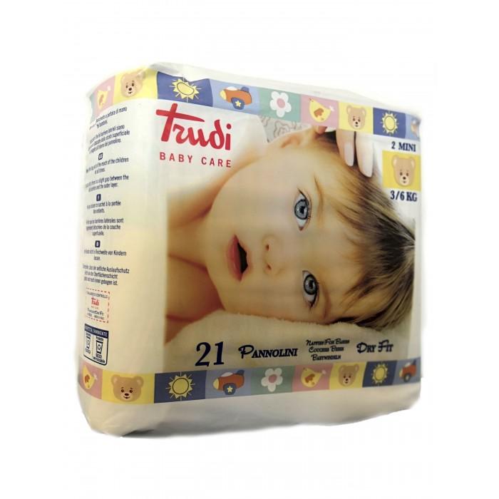 Подгузники Trudi Подгузники детские для новорожденных Mini S (3-6 кг) 21 шт.