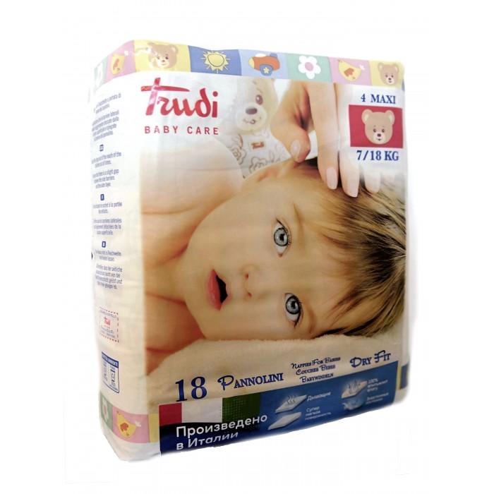Подгузники Trudi Подгузники детские для новорожденных Maxi М (7-18 кг) 18 шт.