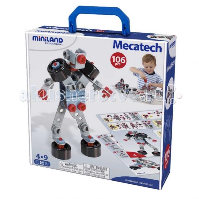 Конструктор Miniland Mecathech Механический 106 деталей