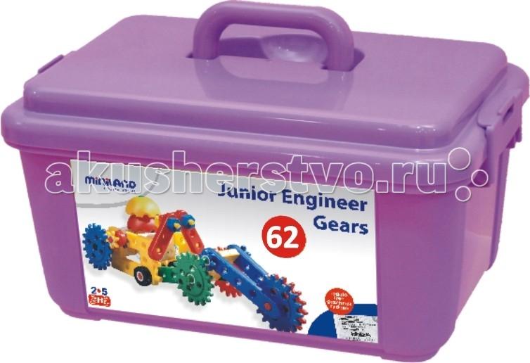 Конструктор Miniland Junior Engineer Gears 62 деталиКонструкторы<br>Конструктор Miniland Junior Engineer Gears 62 детали для юных инженеров с множеством деталей и набором инструментов.  Максимальный размер детали - 21 см.  В наборе: 62 детали конструктора, методические указания для родителей и педагогов, примеры сборки.  Развивает пространственное мышление, причинно-следственные связи.   Рекомендованный возраст - 3-6 лет.