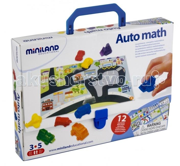 Miniland Обучающая игра АвтоматематикаОбучающая игра АвтоматематикаИгровой набор для выполнения первых математических упражнений.   В игровой форме ребенок может усвоить основные понятия математической логики: сортировка по форме, сортировка по цвету, представления чисел.  Из карт с возрастающим уровнем сложности.  Состав: 36 автомобилей, 12 карточек с заданиями, дидактические указания.  Размер поля 29х21 см.  Вся продукция Miniland выполнена из качественных, безопасных материалов, которые проходят строгий контроль соответствия действующим нормам безопасности.<br>