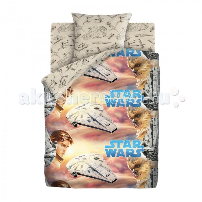 Купить Постельное белье 1.5-спальное, Постельное белье Непоседа Star Wars Neon Хан Соло и Чуи 1.5-спальное (3 предмета)