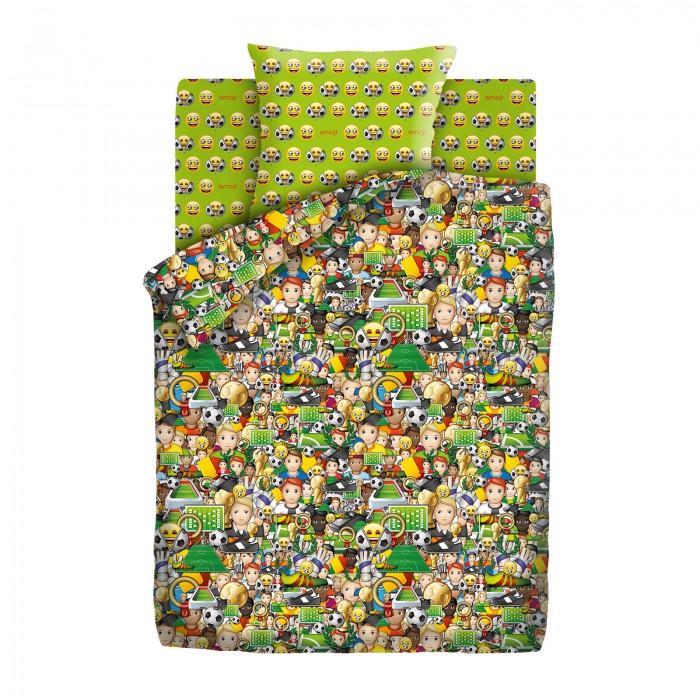 Постельное белье 1.5-спальное Непоседа Emoji Футбол 1.5-спальное (3 предмета), Постельное белье 1.5-спальное - артикул:593134