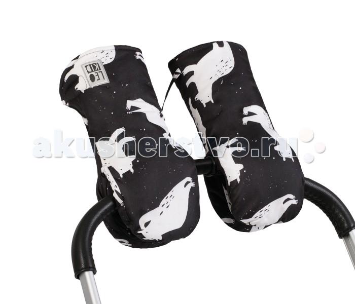 Муфты для рук Leokid Муфты-варежки для коляски Bears, Муфты для рук - артикул:593314