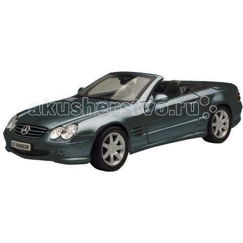 MotorMax Машинка коллекционная Mercedes Benz SL500 1:18Машинка коллекционная Mercedes Benz SL500 1:18MotorMax Машинка коллекционная Mercedes Benz SL500 1:18 - модель автомобиля сделана с особым вниманием к мельчайшим деталям, а потому способна занять достойное место в вашей личной коллекции.   Резиновые шины легко и аккуратно катятся по плоской поверхности, а двери спортивного купе открываются, так что можно усадить внутрь пассажира и водителя.   Игра с машиной развивает мелкую моторику и воображение: к примеру, можно разыграть ситуацию с поломкой, открыв капот, внутри которого обнаружится реалистичная модель двигателя. Если повернуть руль, то колеса станут крутиться в разные стороны, в общем, настоящее удовольствие и восторг! Но самое главное, это складывающаяся крыша, совсем как у настоящего прототипа.   Попробуйте сами!   Motormax, базирующийся в Гонконге, — известный бренд, игрушки которого действительно не стыдно иметь в личной коллекции.<br>