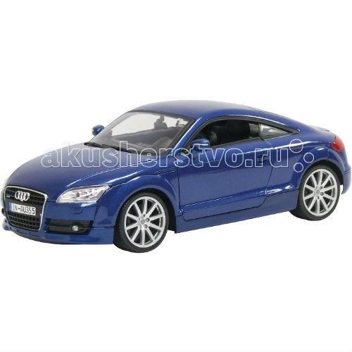 MotorMax Машинка коллекционная Audi TT Coupe 1:18Машинка коллекционная Audi TT Coupe 1:18MotorMax Машинка коллекционная Audi TT Coupe 1:18 - маленькая копия автомобиля Audi TT Coupe, сделанная из литого металла по технологии Die-Cast обязательно понравится как ребенку, так и взрослому коллекционеру.  Audi TT Coupe представлена в масштабе 1:18 и максимально соответствует настоящему автомобилю как внешне, так и внутренне: у игрушки открывающиеся двери, капот и багажник, а передние колеса поворачиваются вбок. Шины легко катаются по плоской поверхности и сделаны из натуральной резины. Интерьер внутри салона воссоздан со 100% точностью. Игрушка имеет лицензию Audi, поэтому обладатель модели может гордиться игрушечным автомобилем в своей коллекции!   Игра с машинкой развивает мелкую моторику и воображение, приносит настоящее удовольствие.  Motormax — бренд из Гонконга, который известен пристальным вниманием к деталям, поэтому играть с маленьким экземпляром немецкого купе — невероятное удовольствие. Игрушечная машина выглядит стильно, реалистично и будоражит кровь!<br>