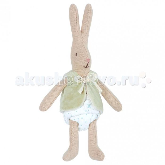 Мягкая игрушка Maileg Кролик в жилетке Микро фото
