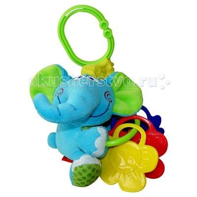 Подвесные игрушки Мир детства Мини-подвеска Слоненок вибрирующая игрушка мир детства бегемотик