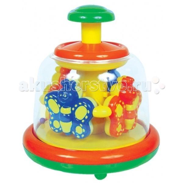 Развивающие игрушки Мир детства Юла Заводная карусель