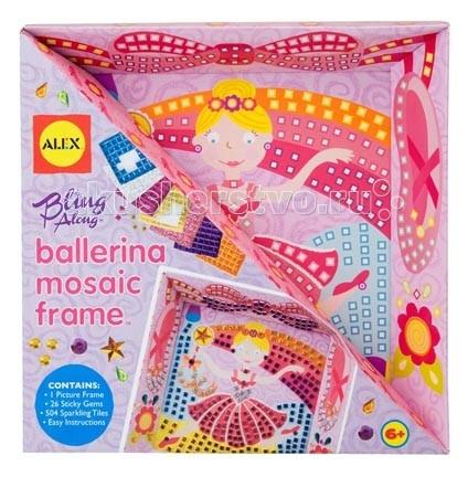 Картины своими руками Alex Набор Мозаика в рамке Балерина обучающая книга мозаика синтез развивающие наклейки для малышей один много мс10355