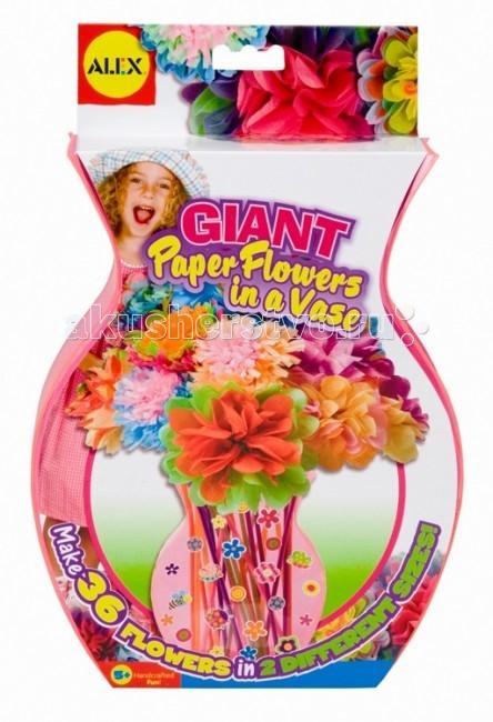 Наборы для творчества Alex Набор Большие цветы из бумаги в вазе chic arrow shape embellished retro quadrate frame sunglasses for women