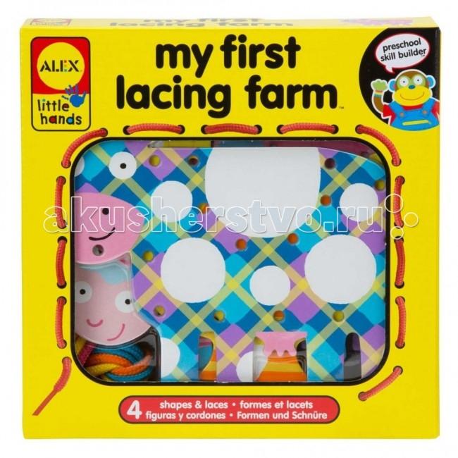 Развивающие игрушки Alex Шнуровка Веселая ферма barneybuddy barneybuddy игрушки для ванны стикеры веселая ферма