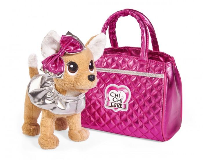Мягкая игрушка Chi-Chi Love собачка Гламур с сумочкой и бантом 20 см
