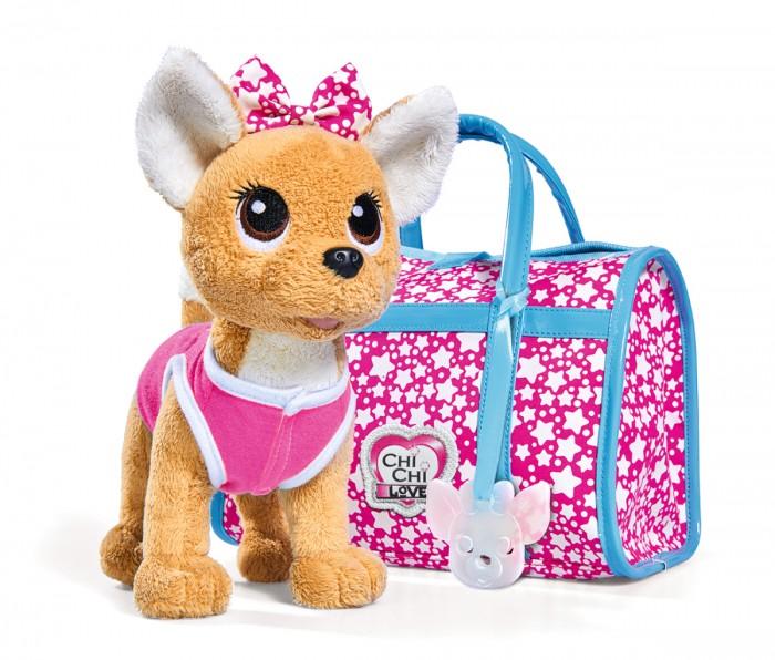 Мягкие игрушки Chi-Chi Love собачка Звездный стиль с сумочкой 20 см, Мягкие игрушки - артикул:598274