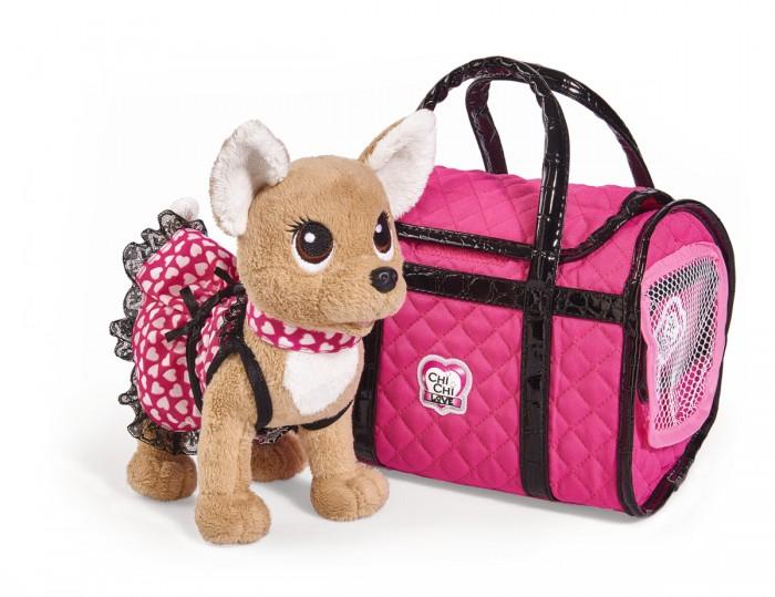 Мягкие игрушки Chi-Chi Love собачка Париж 2 в платье и с сумкой 20 см, Мягкие игрушки - артикул:598284