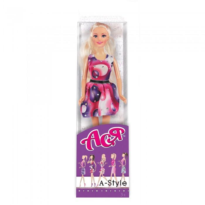 Куклы и одежда для кукол Toys Lab Кукла Ася Блондинка в платье со стразами А-стайл коктейльное платье