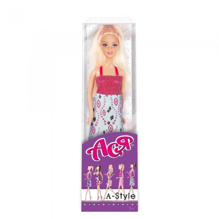 Куклы и одежда для кукол Toys Lab Кукла Ася Блондинка в платье с принтом А-стайл платье толстовка с принтом кит в коричневом свитере