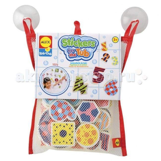Игрушки для ванны Alex Набор фигурок-стикеров для ванны Цифры игрушки для ванной alex игрушки для ванны джунгли