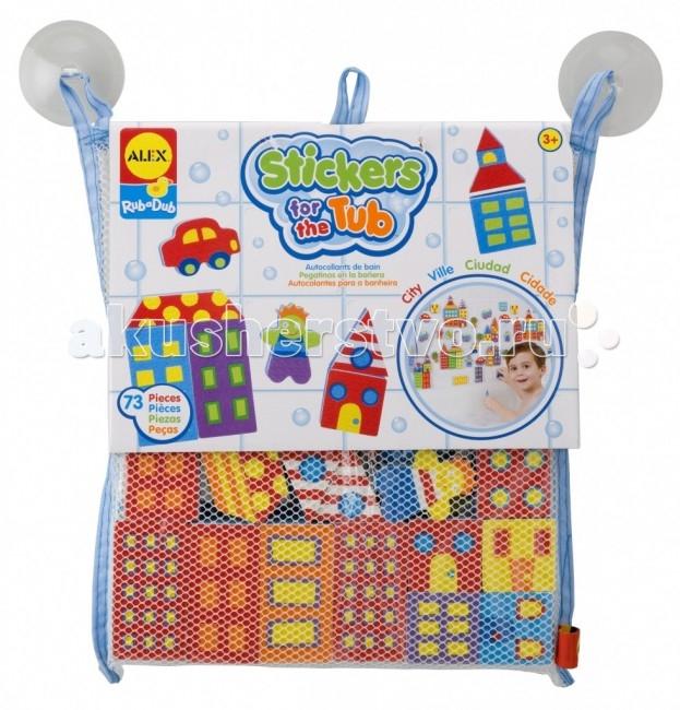Игрушки для ванны Alex Набор фигурок-стикеров для ванны Город игрушки для ванной alex игрушки для ванны джунгли