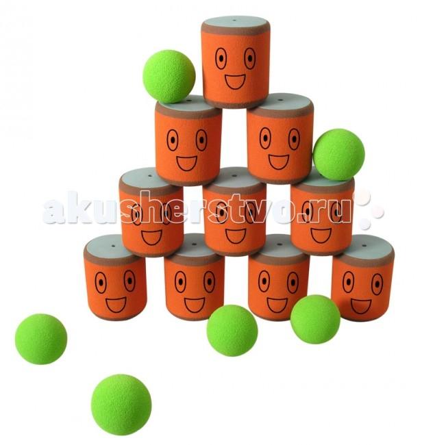 SafSof  Городки 10 банокГородки 10 банокВ наборе 10 банок, 6 мячей для сбивания фигур.  Игра заключается в выбивании фигур, построенных из 3-х и более городков (банок), мячами с определенного расстояния.  Постановка фигур и расстояние, с которого выбиваются фигуры, произвольное.  Количество участников два и более. Каждый участник сбивает фигуру с одного и того же расстояния.  Выигрывает тот, кто набирает наибольшее количество баллов за всю игру.  Набор изготовлен из вспененной резины.  SafSof – детские спортивные игрушки и игры из оригинальной экологически чистой вспененной резины для активного отдыха на улице и дома. Большинство спортивных игрушек созданы для поддержания спортивного интереса у детей, развития физических навыков и командного духа. Игрушки компании SafSof также способствуют укреплению семейных отношений, путем вовлечения родителей и детей в совместные игры.<br>