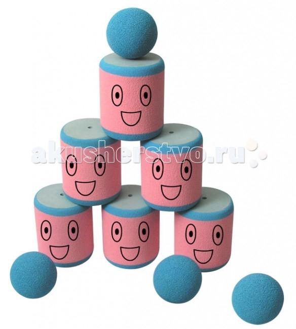 SafSof  Городки 6 банокГородки 6 банокВ наборе 6 банок, 4 мячя для сбивания фигур.  Игра заключается в выбивании фигур, построенных из 3-х и более городков (банок), мячами с определенного расстояния.  Постановка фигур и расстояние, с которого выбиваются фигуры, произвольное.  Количество участников два и более. Каждый участник сбивает фигуру с одного и того же расстояния.  Выигрывает тот, кто набирает наибольшее количество баллов за всю игру.  Набор изготовлен из вспененной резины.  SafSof – детские спортивные игрушки и игры из оригинальной экологически чистой вспененной резины для активного отдыха на улице и дома. Большинство спортивных игрушек созданы для поддержания спортивного интереса у детей, развития физических навыков и командного духа. Игрушки компании SafSof также способствуют укреплению семейных отношений, путем вовлечения родителей и детей в совместные игры.<br>