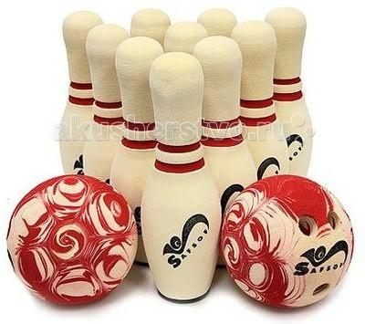 SafSof  Боулинг в сумке 380 ммБоулинг в сумке 380 ммВ наборе 10 кеглей высотой 38 см и 2 мяча 17 см.  Суть игры: Сбить шаром максимальное количество кеглей. Число игроков и количество туров - произвольное. Очки, набранные с каждым броском мяча, равны количеству сбитых кегель. Расстояние, с которого совершается бросок, определяется игроками. Каждый игрок имеет право на два броска в одной рамке (рамка - треугольник, в пределах которого выстраиваются кегли перед каждым первым броском очередного игрока). Если первым броском игрок сбил не все кегли, он бросает второй раз и пытается сбить оставшиеся кегли. Бросок, при котором все кегли сбиты с первого раза, называется страйк и обозначается как Х. В этом случае второй бросок не нужен: рамка считается закрытой. Призовые очки за страйк (Х) - это сумма кеглей, сбитых игроком следующими двумя бросками (в порядке своей очереди). Выигрывает тот игрок, который в сумме набирает большее количество очков.  Цвета кеглей и мячей могут отличаться от представленных на картинке.  Набор изготовлен из вспененной резины.  SafSof – детские спортивные игрушки и игры из оригинальной экологически чистой вспененной резины для активного отдыха на улице и дома. Большинство спортивных игрушек созданы для поддержания спортивного интереса у детей, развития физических навыков и командного духа. Игрушки компании SafSof также способствуют укреплению семейных отношений, путем вовлечения родителей и детей в совместные игры.<br>