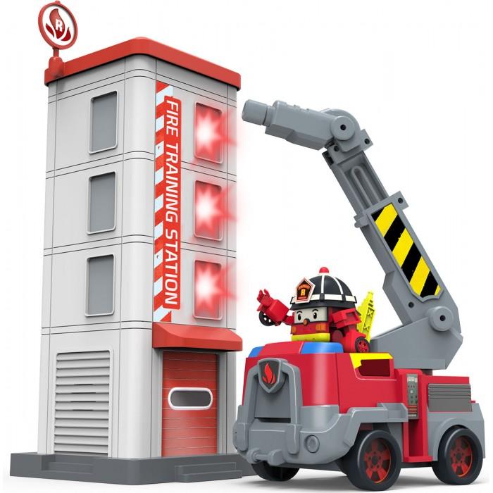 Картинка для Робокар Поли (Robocar Poli) Пожарная станция с фигуркой Рой