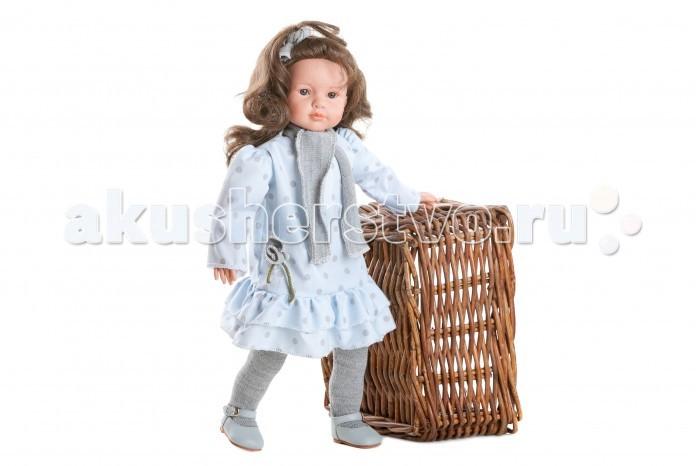 Dnenes/Carmen Gonzalez Кукла Паула в голубом платье с оборкой 52 см