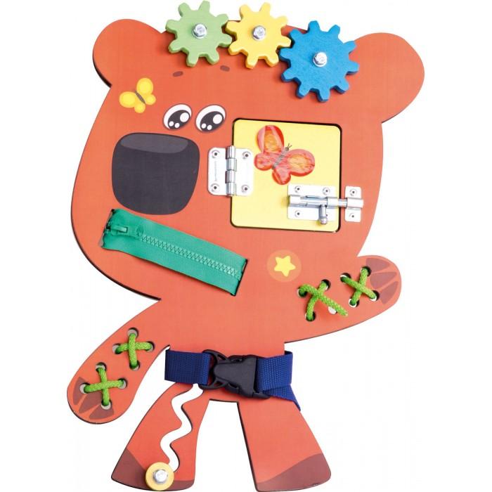 Деревянная игрушка Ми-ми-мишки Бизиборд Кеша.