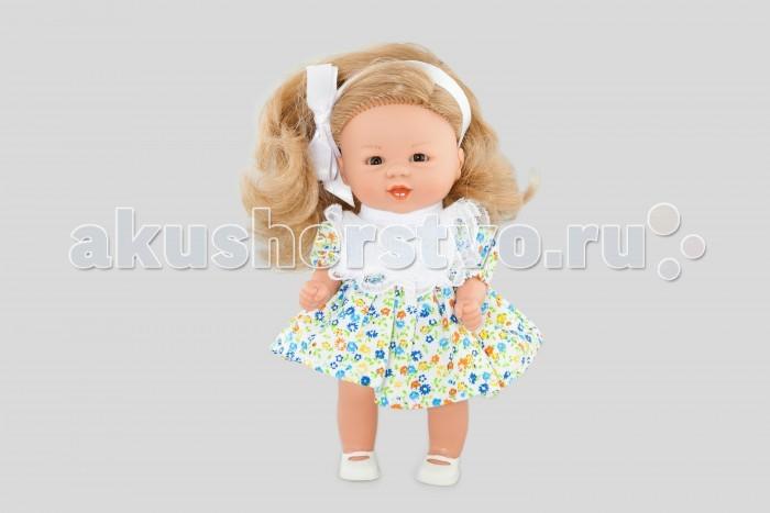 Куклы и одежда для кукол Dnenes/Carmen Gonzalez Кукла Бебетин в цветочном платье с ажурным нагрудником 21 см куклы и одежда для кукол весна озвученная кукла саша 1 42 см