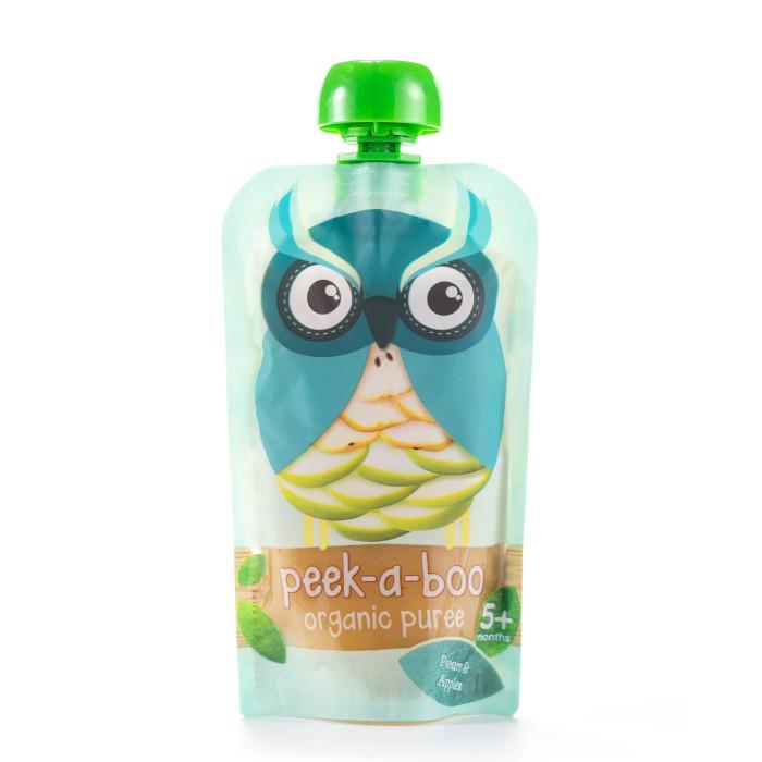 Пюре Peek-а-boo Органическое пюре из груш и яблок с 5 мес. 113 г peek a boo пюре органическое яблоко с 4 месяцев 113 г