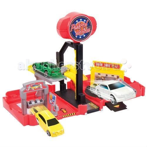 Машины MotorMax Мини-заправочная станция 1 машина 1:64 в комплекте
