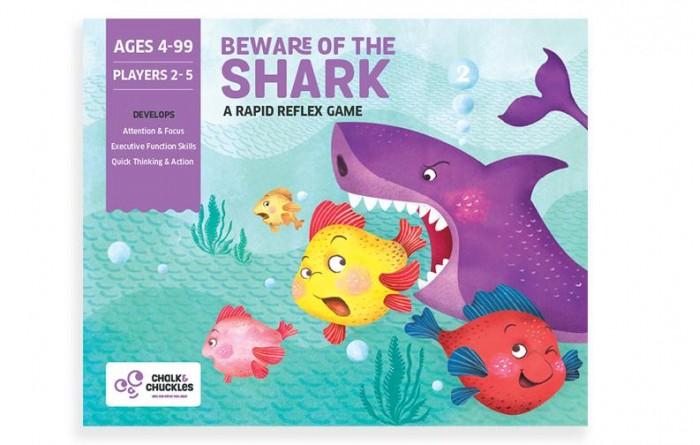 Chalk&Сhuckles Игра настольная Берегись акулы!